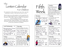 Lent Calendar Pages 1 and 6