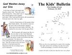 The Kids' Bulletin Lent 1