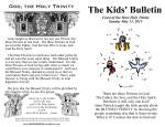 The Kids' Bulletin for Sunday May 31 2015