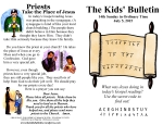 The Kids' Bulletin 14th Sunday