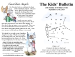 The Kids' Bulletin 26th Sunday