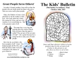 The Kids' Bulletin 29th Sunday