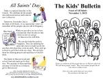 The Kids' Bulletin All Saints