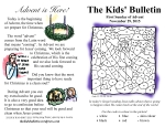 The Kids' Bulletin 1st Sunday of Advent