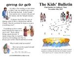 The Kids' Bulletin 32nd Sunday