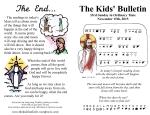 The Kids' Bulletin 33rd Sunday