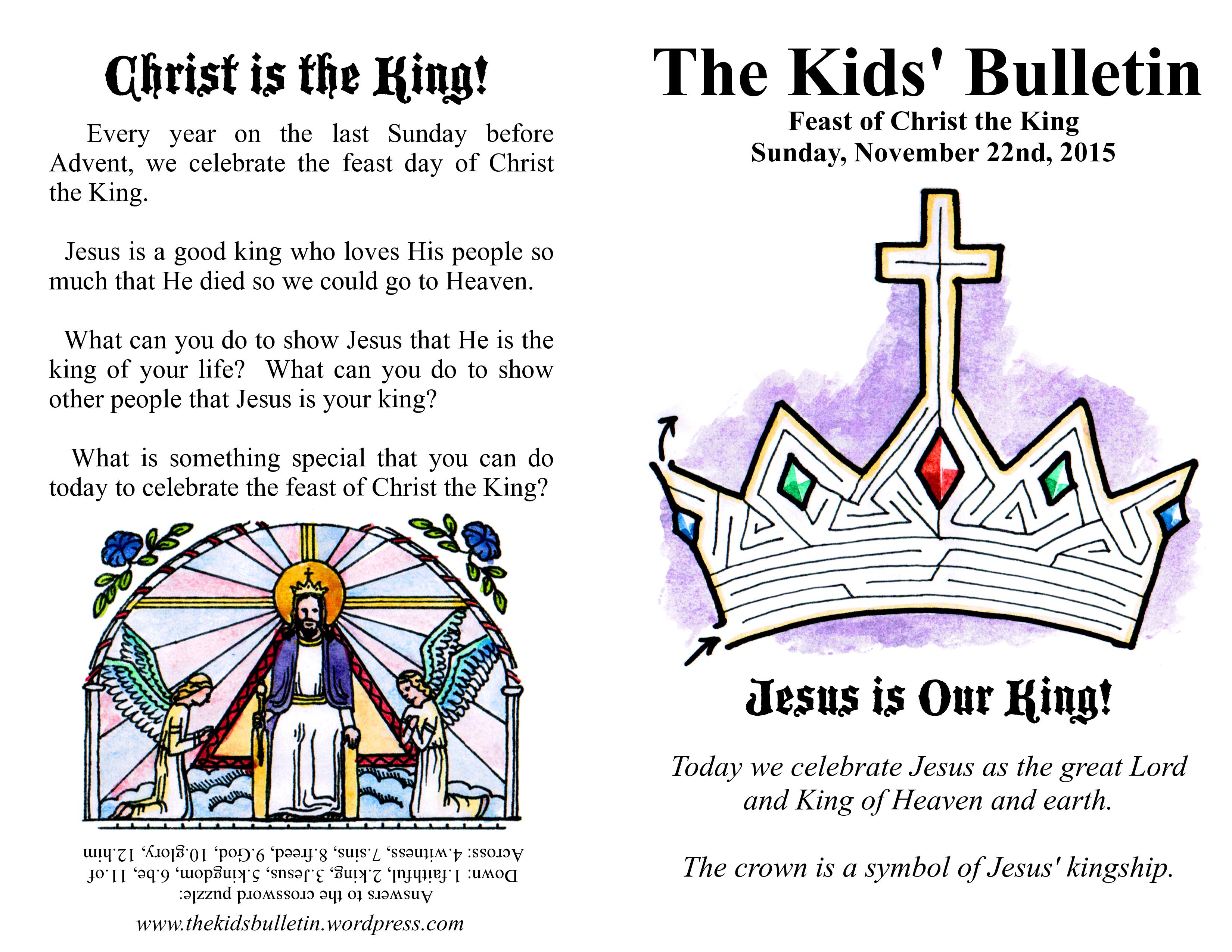 Christ The King Kids Crafts