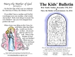 Kids' Bulletin Holy Family and Mother of God 2016