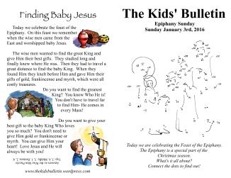 The Kids' Bulleitn Epiphany Sunday