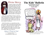 The Kids' Bulletin 2nd Sunday of Easter