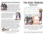 The Kids' Bulletin 5th Sunday of Lent