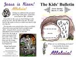 The Kids' Bulletin Easter Sunday