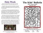 The Kids' Bulletin Palm Passion Sunday
