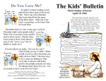 The Kids' Bulletin 3rd Sunday of Easter