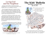 The Kids' Bulletin 15th Sunday