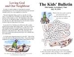 The Kids' Bulletin 15th Sunday