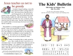 The Kids' Bulletin 18th Sunday