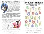 The Kids' Bulletin 22nd Sunday