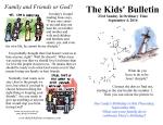 The Kids' Bulletin 23rd Sunday