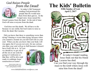The Kids' Bulletin Lent 5