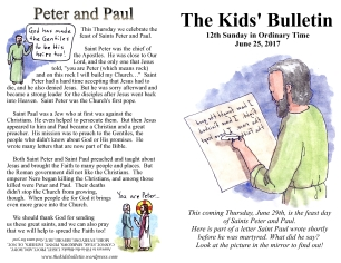 The Kids' Bulletin 12th Sunday