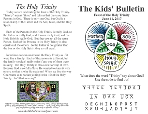 The Kids' Bulletin Trinity Sunday