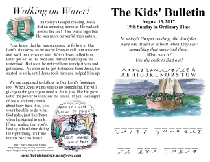 The Kids' Bulletin 19th Sunday