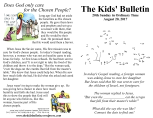 The Kids' Bulletin 20th Sunday
