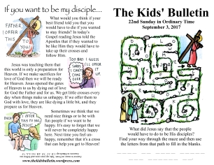 The Kids' Bulletin 22nd Sunday