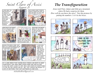 The Kids' Bulletin Transfiguration Sunday August 6 inside