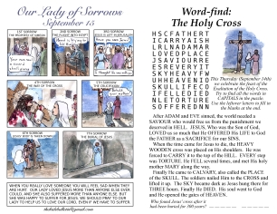 The Kids' Bulletin 23rd Sunday or Triumph of the Cross inside