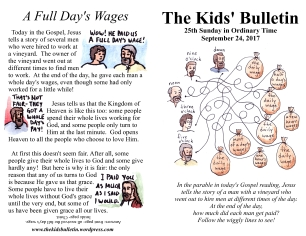 The Kids' Bulletin 25th Sunday