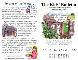 The Kids' Bulletin 27th Sunday