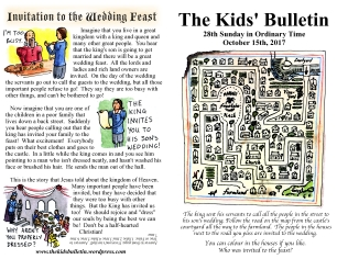 The Kids' Bulletin 28th Sunday