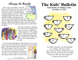 The Kids' Bulletin 32nd Sunday