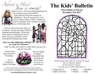 The Kids' Bulletin Advent 1