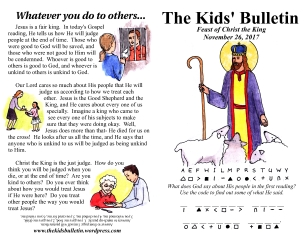 The Kids' Bulletin Christ the King