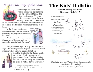 The Kids' Bulletin Advent 2