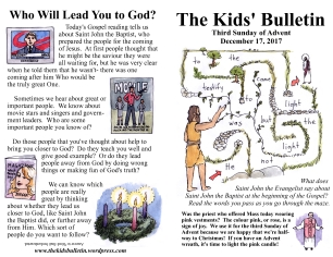 The Kids' Bulletin Advent 3