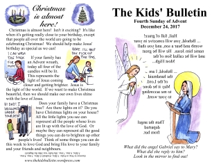 The Kids' Bulletin Advent 4