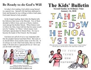The Kids' Bulletin 2nd Sunday