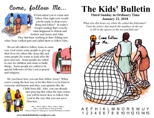 The Kids' Bulletin 3rd Sunday