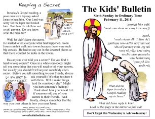 The Kids' Bulletin 6th Sunday