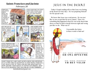 The Kids' Bulletin Lent 1 inside