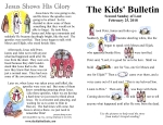 The Kids' Bulletin for Sunday February 25th, 2018