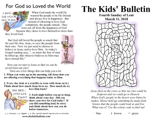The Kids' Bulletin Lent 4