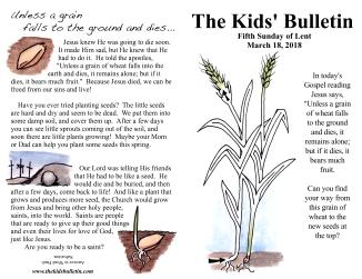 The Kids' Bulletin Lent 5