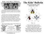 The Kids' Bulletin for Sunday May 27th, 2018: Trinity Sunday