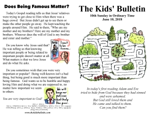 The Kids' Bulletin 10th Sunday