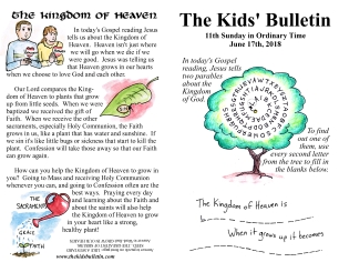 The Kids' Bulletin 11th Sunday
